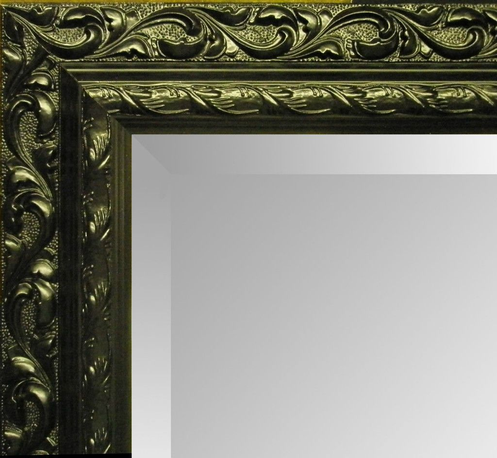 large silver decorative mirror