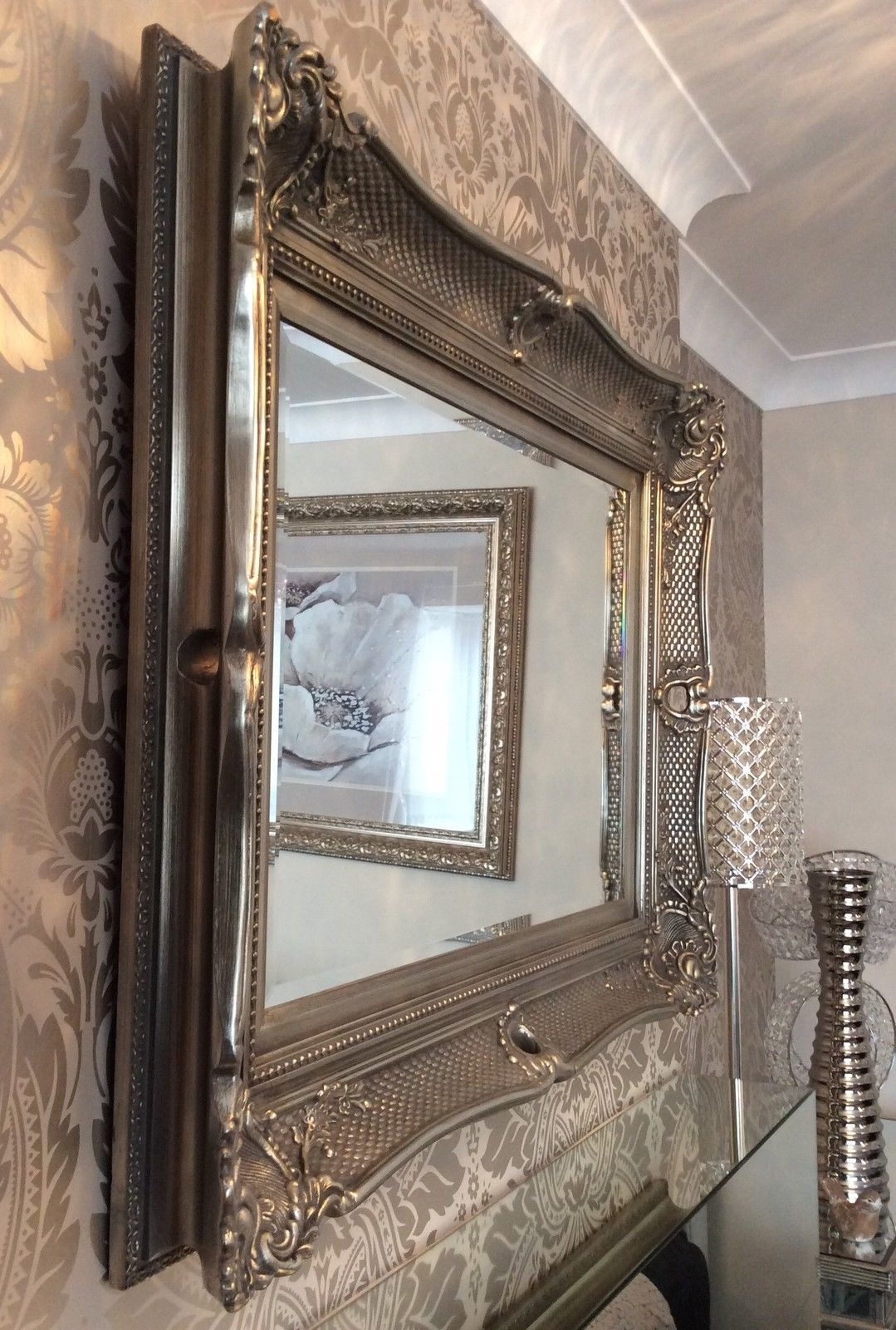 Wonderful ornate fabulous extra large wall mirror range Large mirror on wall