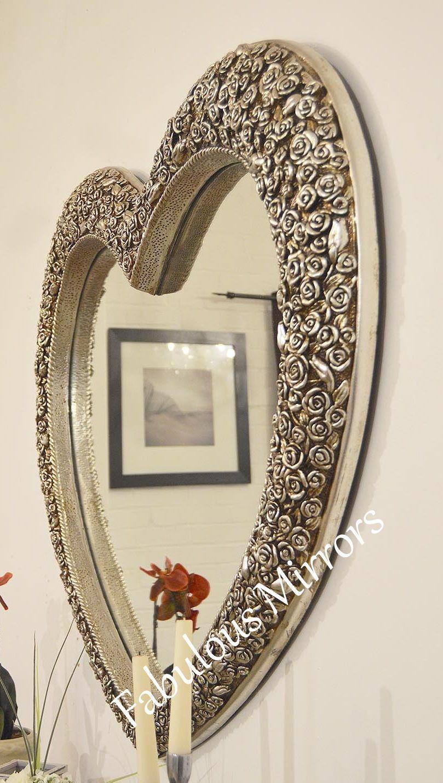 X large rose heart stunning ornate elegant mirror save s new for Elegant mirrors