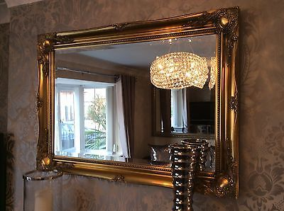 0a5ae0d6d8fa Large GREY Shabby Chic Ornate Decorative Wall Mirror FREE POSTAGE