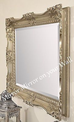 7e7fbc122fde X LARGE Antique GOLD Shabby Chic Ornate Decorative Wall Mirror FREE POSTAGE